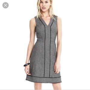 Banana Republic sleeveless herringbone dress